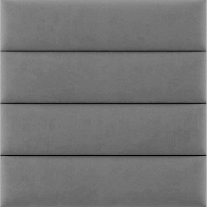 panneau tete de lit capitonnée gris