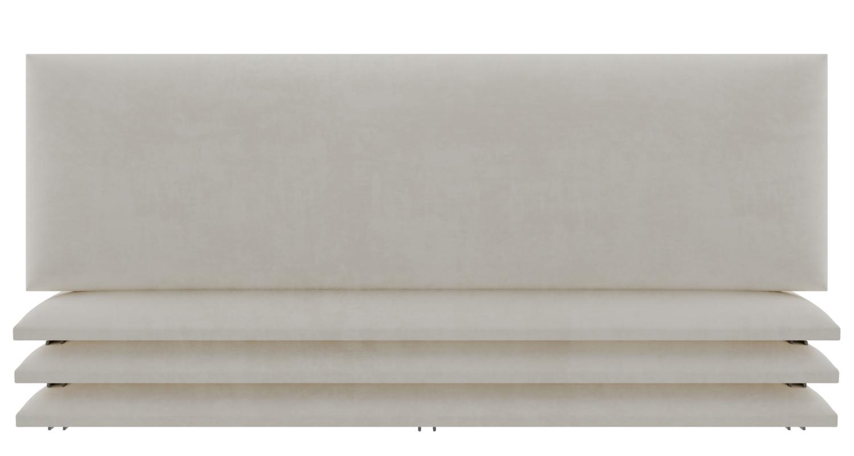 tête de lit capitonnée beige