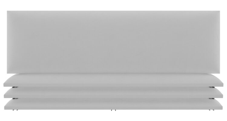 tête de lit capitonnée blanc