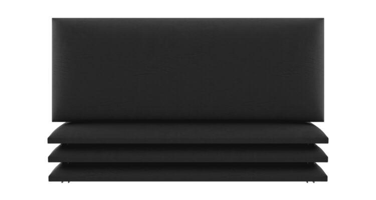 tete de lit capitonnee noir