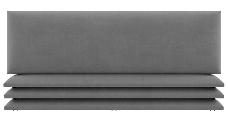 tête de lit cuir gris
