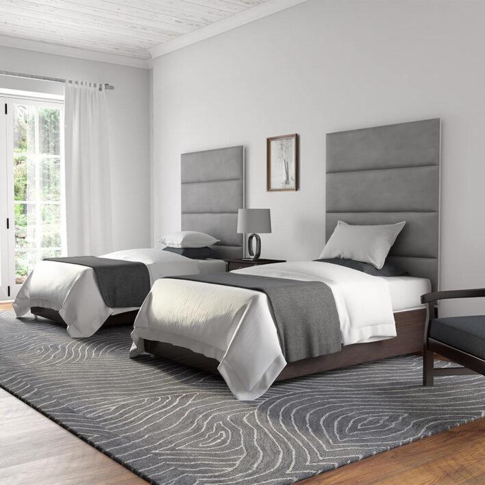 Tête de lit gris