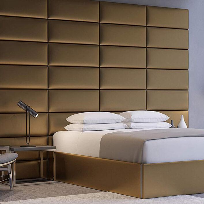 Tête de lit luxe or