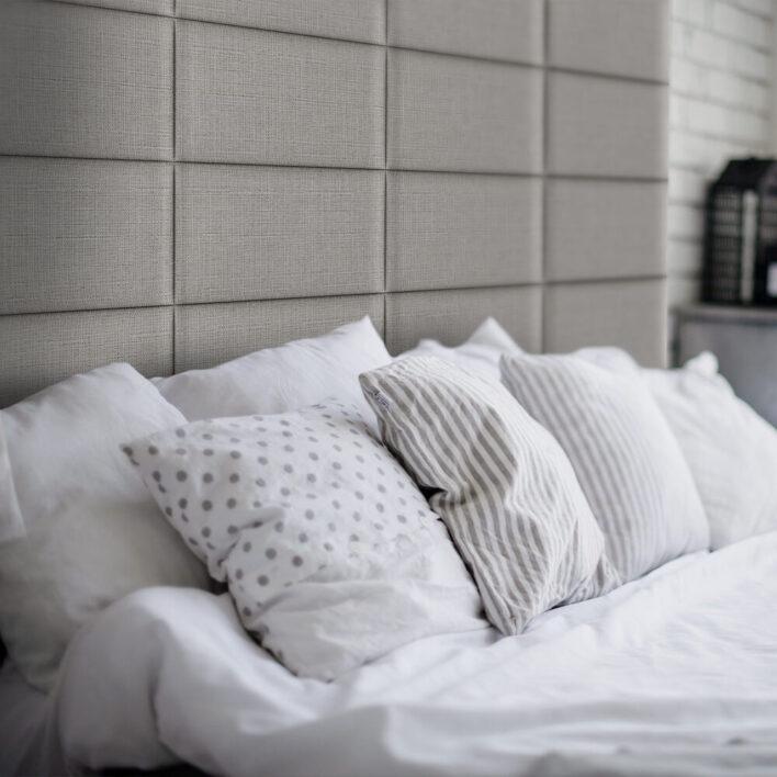 déco tête de lit gris beige