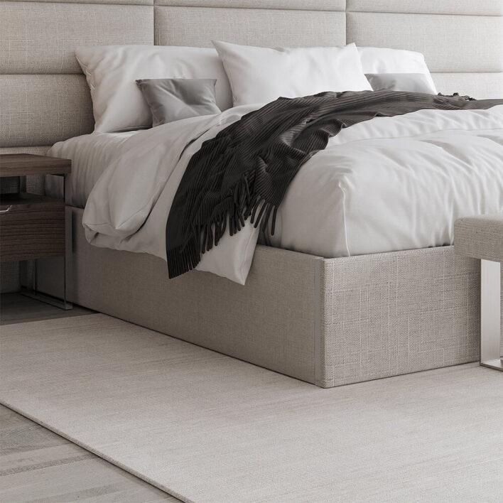 décoration tête de lit tissu