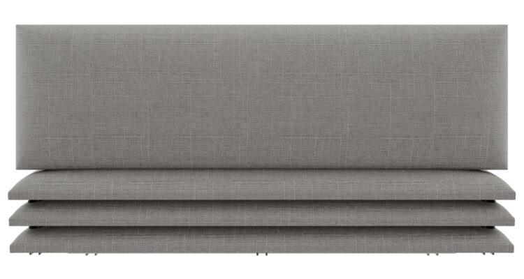 panneau déco tête de lit gris beige