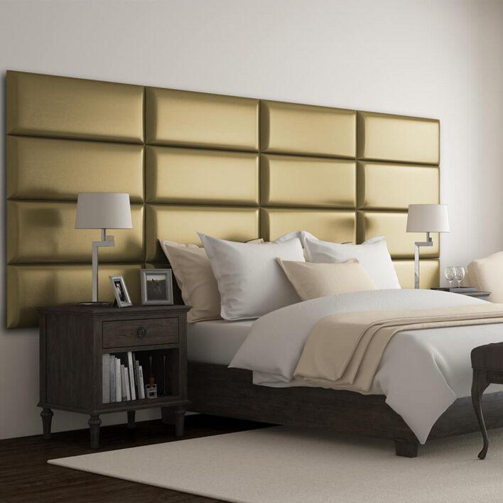panneau décoratif tête de lit gold