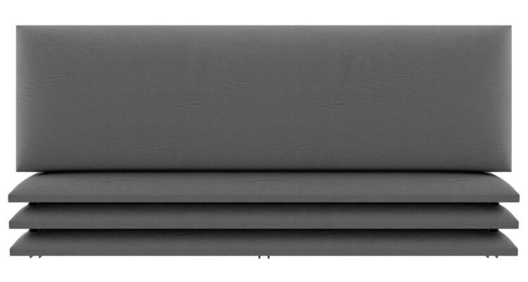 panneau décoratif tête de lit matelassé gris
