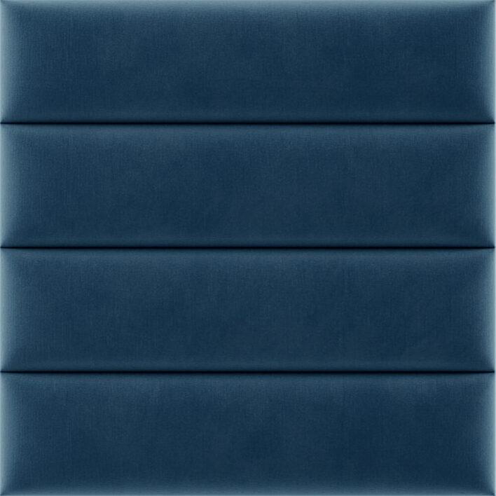 panneau tête de lit bleu