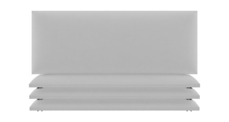 panneau tête de lit capitonnée blanc
