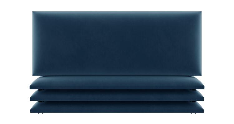 tête de lit capitonnée velours bleu