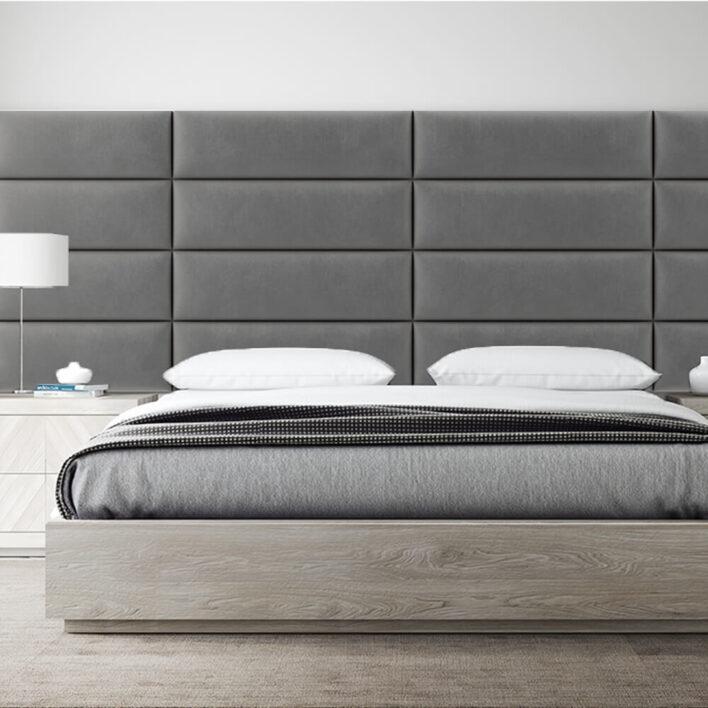 panneau tête de lit design taupe