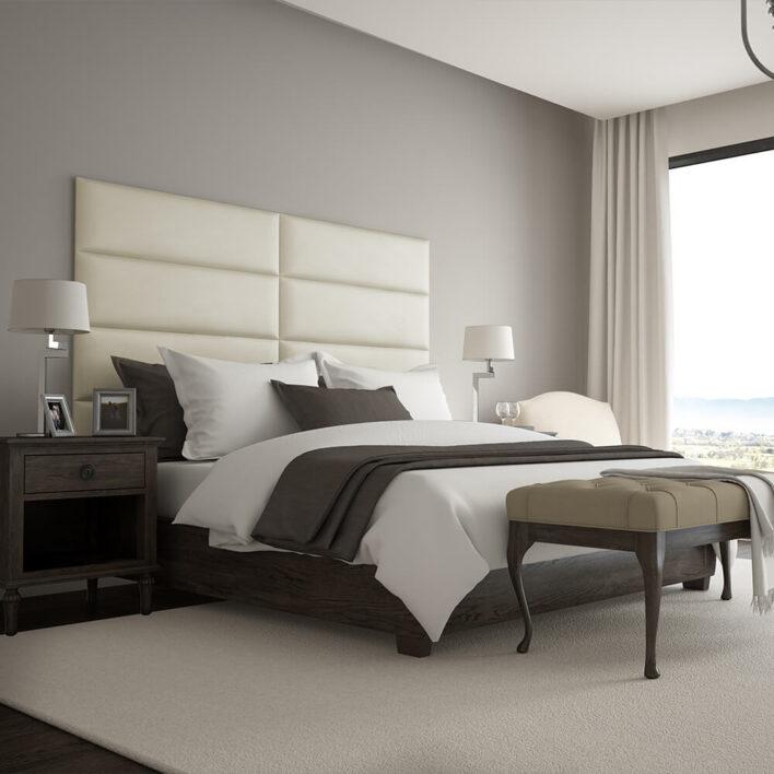 Panneau Tête de lit moderne beige