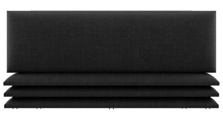 panneau tête de lit tissu noir
