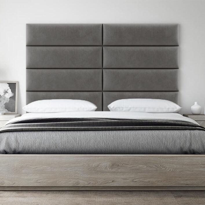 tete de lit design taupe