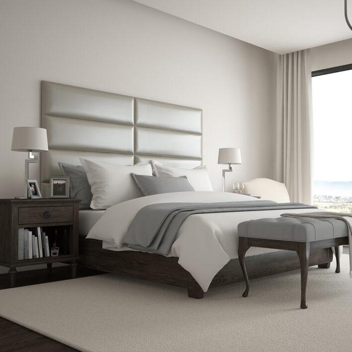tête de lit murale simili cuir